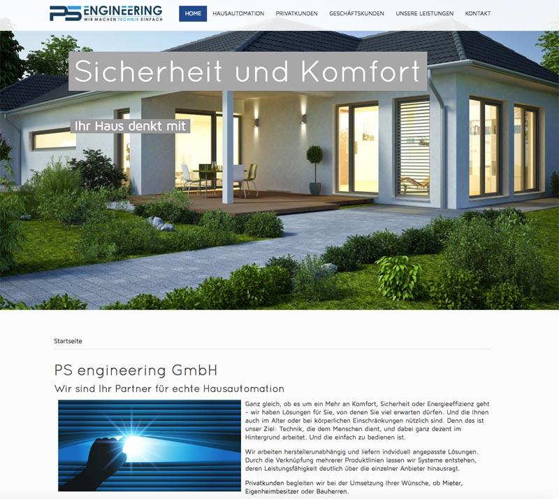 Bild von der Hausautomation Webseite