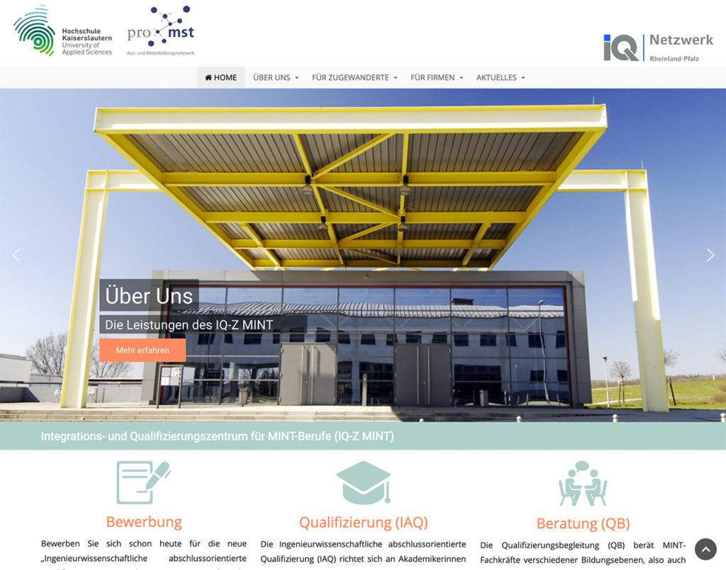 IQZMINT Webseite