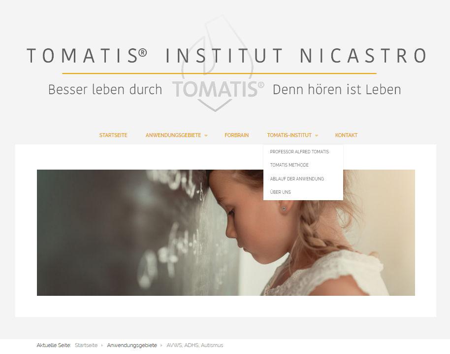 Tomatis-Nicastro Webseite