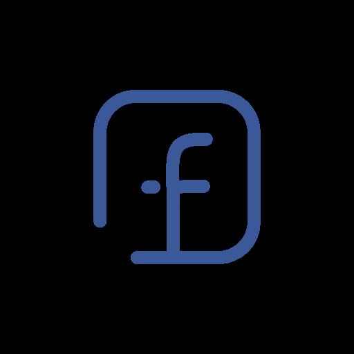 facebook icon modern