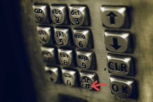 Bild von Telefontastatur mit Hashtag