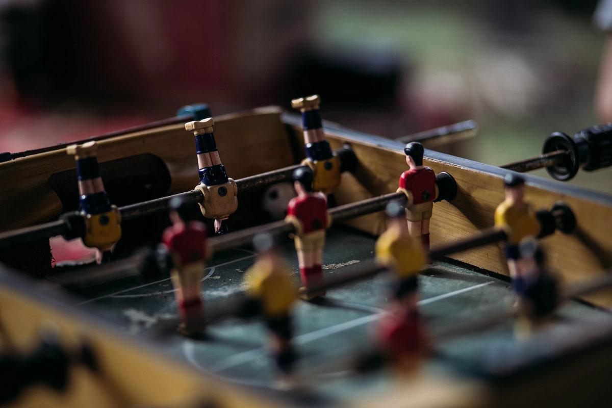 Bild von einem Tischkicker