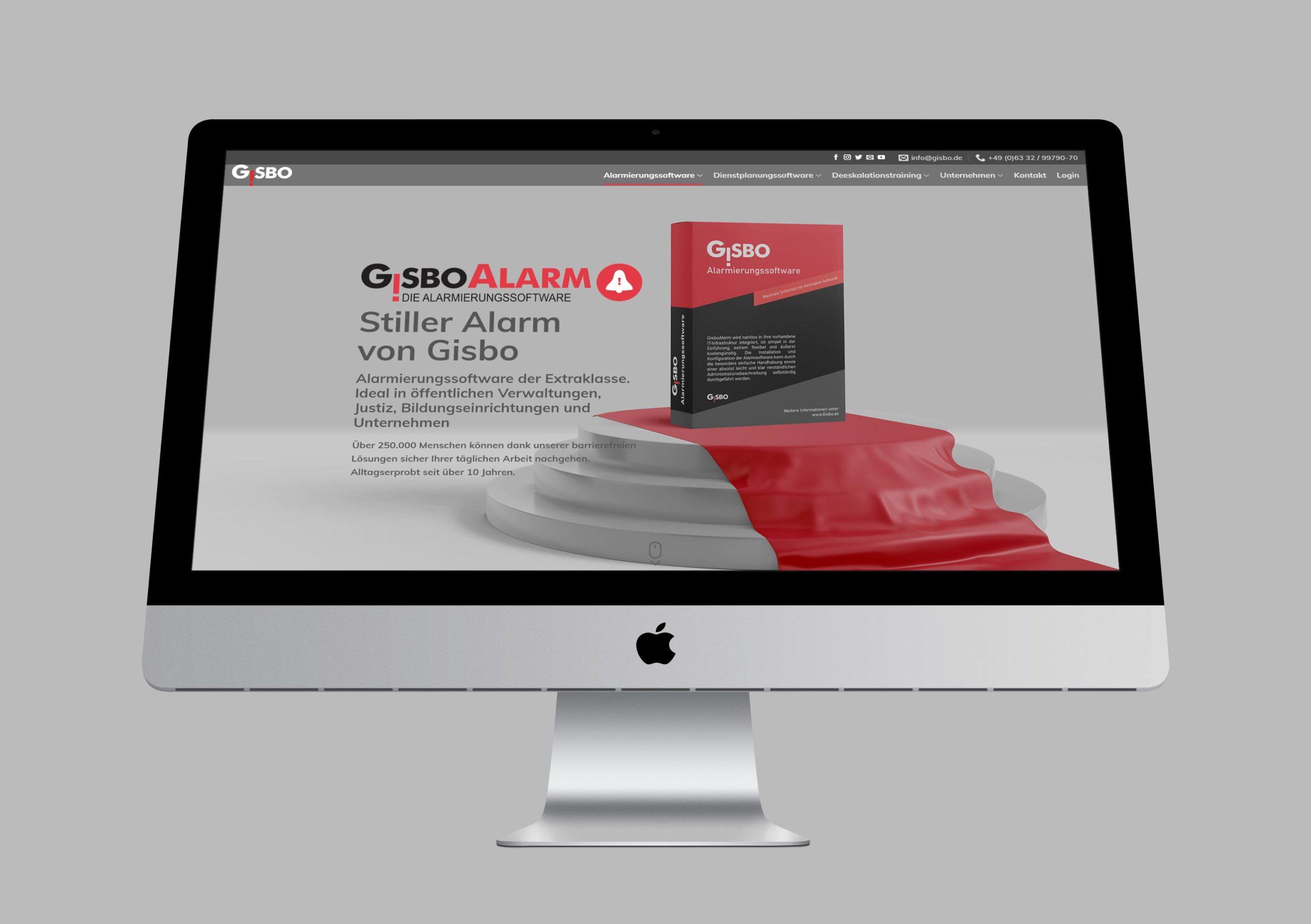 Bild von gisbo Webseite auf dem imac