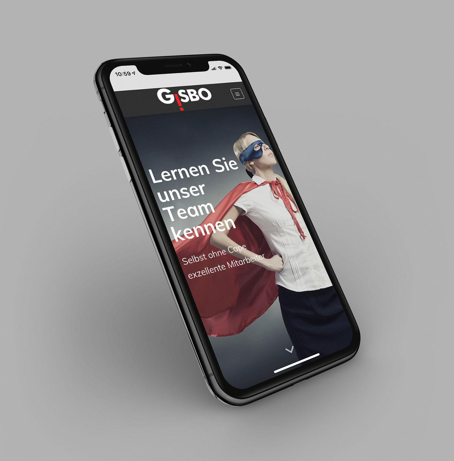 Bild von der gisbo Seite auf dem iphone